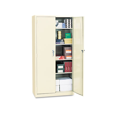 Alera Assembled 72 High Storage Cabinet, w/Adjustable Shelves, 36w x 18d, Putty ALECM7218PY