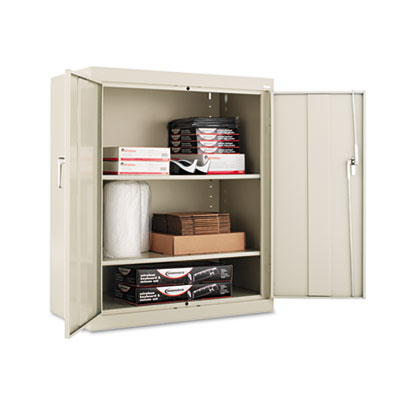 Alera Assembled 42 High Storage Cabinet, w/Adjustable Shelves, 36w x 18d, Putty ALECM4218PY