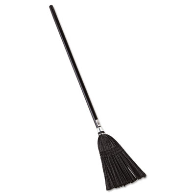 Rubbermaid Commercial Lobby Pro Synthetic-Fill Broom, 37 1/2 Height, Black RCP2536
