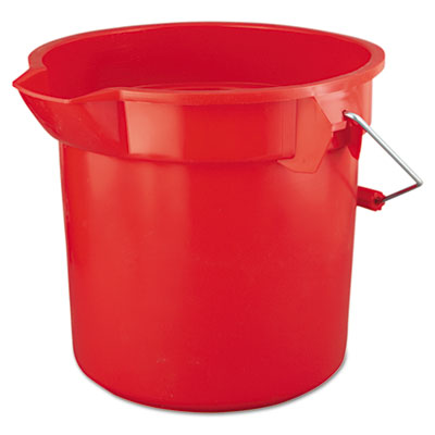 Rubbermaid Commercial BRUTE Round Utility Pail, 14qt, Red RCP2614RED