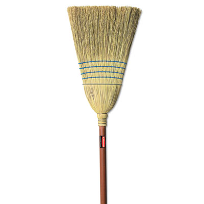 Rubbermaid Commercial Warehouse Corn-Fill Broom, 38-in Handle, Blue RCP6383