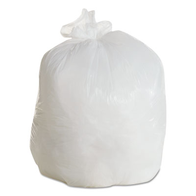Boardwalk LD Can Liners, 20-30gal, .60mil, 30w x 36h, White, 25 Bags/Roll, 8 Rolls/CT BWK3036EXH