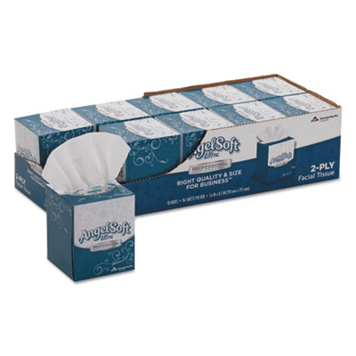 Angel Soft ps Ultra Facial Tissue, 2-Ply, White, 7 3/5 x 8 1/2, 96/Box, 10 Boxes/Carton GPC4636014