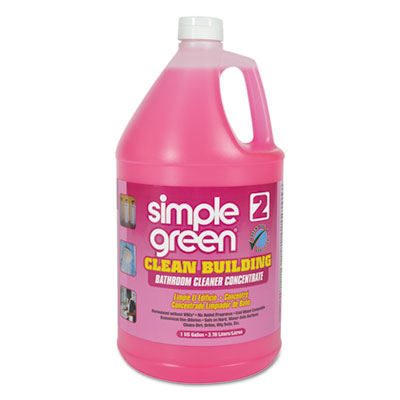 Simple Green Clean Building Bathroom Cleaner Concentrate, Unscented, 1gal Bottle SMP11101