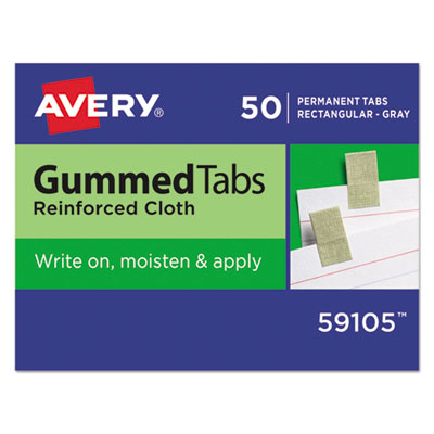 Avery Gummed Index Tabs, 7/16 x 13/16, Gray, 50/Pack AVE59105