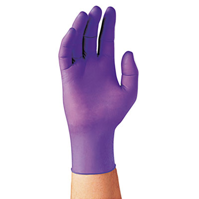 Kimberly-Clark Professional* PURPLE NITRILE Exam Gloves, 242 mm Length, Large, Purple, 100/Box KCC55083