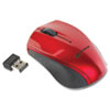 IVR62204 Innovera Mini Wireless Optical Mouse, Three Buttons, Red/Black