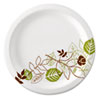 DIX UX9WS Dixie Ultralux Pathways Paper Plates, 8.5, Green/Burgundy