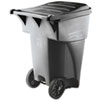 RCP 9W22 GRA Rubbermaid Commercial Brute Rollout H-Duty Waste Container, Square, Polyethylene, 95gal, Gray