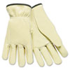 MPG 3200L Memphis Full Leather Cow Grain Driver Gloves, Tan, Large