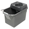 RCP 6194 STL Rubbermaid Commercial Pail/Strainer Combinations, 15 qt, Steel Gray