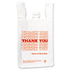 IBS THW2VAL Inteplast Group T-Shirt Thank You Bag, 12 x 7 x 13, 12.5 Micron, White, 500/Case