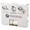 IBS S242408N Inteplast Group High-Density Can Liner, 24 x 24, 10-Gallon, 8 Micron, Clear, 50/Roll
