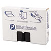 IBS S334016K Inteplast Group High-Density Can Liner, 33 x 40, 33-Gallon, 16 Micron, Black, 25/Roll