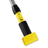 RCP H236 Rubbermaid Commercial Gripper Vinyl-Covered Aluminum Mop Handle, 60, Gray/Yellow