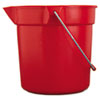 RCP 2963 RED Rubbermaid Commercial Brute Utility Pail, 10 qt, Red