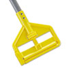 RCP H146 Rubbermaid Commercial Invader Fiberglass Side-Gate Wet-Mop Handle, 60, Gray/Yellow