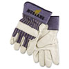 MPG 1935XL Memphis Mustang Leather Palm Gloves, Blue/Gray, Extra Large