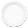 DCC 6PWF Dart Famous Service Plastic Dinnerware, Plate, 6, White