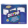 DIX CM168 Dixie Heavy-Duty Combo Pack, Tray w/Plastic Forks, Knives, Spoons, White