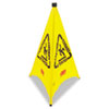 RCP 9S01 YEL Rubbermaid Commercial Three-Sided Wet Floor Safety Cone, 21w x 21d x 30h, Yellow