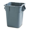 RCP 3536 GRA Rubbermaid Commercial Brute Container, Square, Polyethylene, 40 gal, Gray