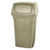 RCP 8430-88 BEI Rubbermaid Commercial Ranger Fire-Safe Container, Square, Structural Foam, 35 gal, Beige