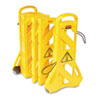 RCP 9S11 YEL Rubbermaid Commercial Portable Mobile Safety Barrier, Plastic, 1 x 13 ft x 40, Yellow
