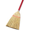 UNS 951T UNISAN Lobby/Toy Broom, Corn Fiber Bristles, 39 Wood Handle, Red/Yellow