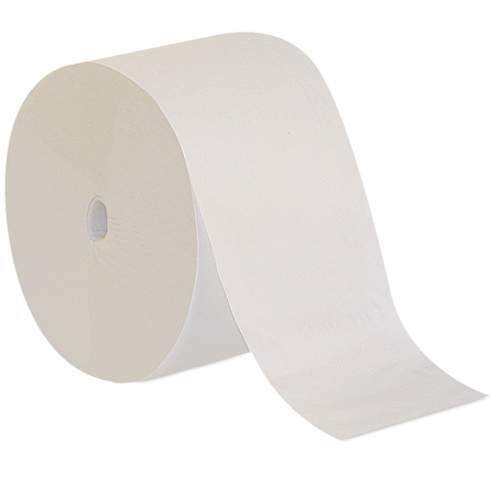 GPC 193-74 Compact Coreless One-Ply Bath Tissue, White