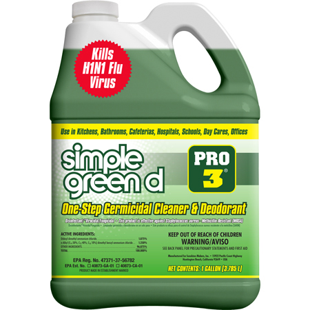 SMP 30305 simple green d Pro 3 Germicidal Cleaner, 5gal, Pail