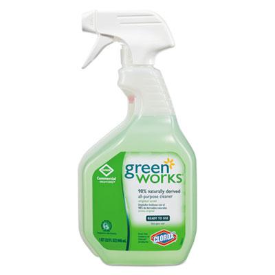 Green Works All-Purpose and Multi-Surface Cleaner, Original, 32oz Smart Tube Spray Bottle CLO00456